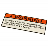 2-60161 : Decal, 4x4 Boss Warning