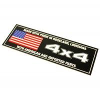 2-60286 : Decal, 4 X 4 W/ American Flag