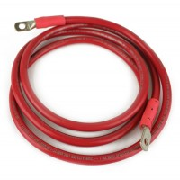 2-70074 : Wire,  4ga Red with  5/16 inch To 1/4 inch Lugs-70in