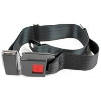 8850 : Lap Belt 1 12x36 W12 Blk Sleeve